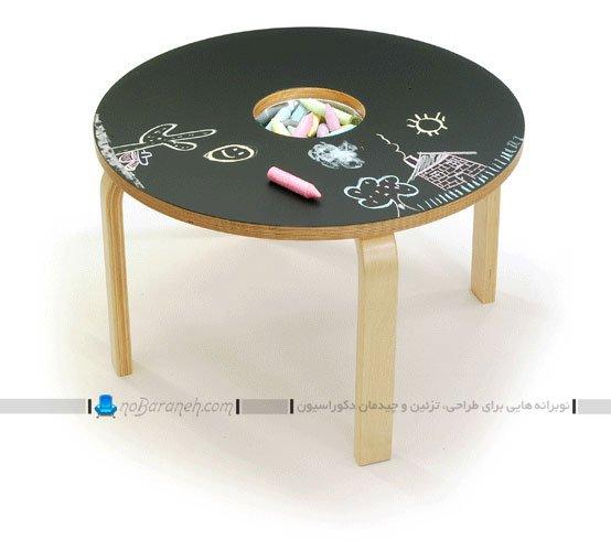 میز و صندلی کودکانه با صفحه مخصوص نقاشی