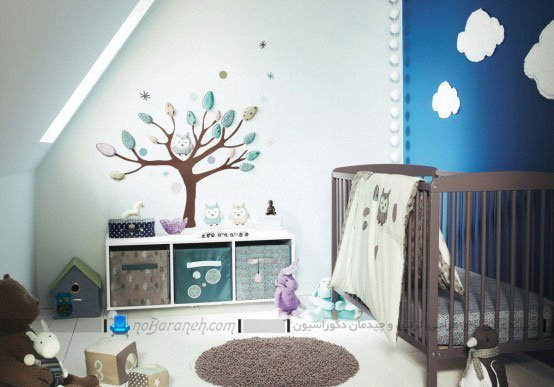 تزیینات دیواری اتاق کودک نوزاد، طراحی دکوراسیون اتاق نوزاد
