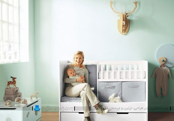 مدل جدید تخت خواب نوزاد، مدل سیسمونی اتاق نوزاد / عکس