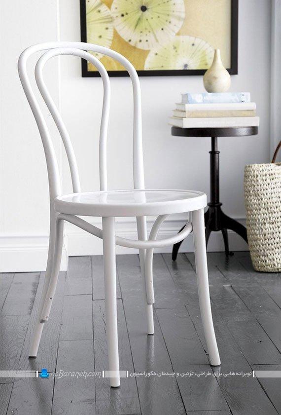 صندلی تونت سفید رنگ / عکس