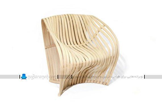 صندلی تک فانتزی با جنس چوبی