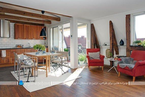 دکوراسیون خانه کوچک آپارتمانی 80 متری