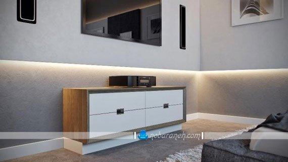 طراحی دکوراسیون شیک و مدرن اتاق خواب در منزل دو خوابه