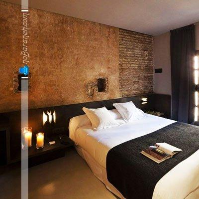 تزیین دیوار اتاق خواب با سنگ های تزیینی آنتیک / عکس