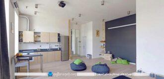 طراحی دکوراسیون شیک و مدرن در خانه کوچک