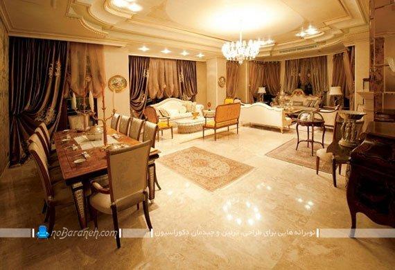 دکوراسیون مجلل اتاق نشیمن در برج رما رزيدنس، طراحی دکوراسیون داخی واحدهای مسکونی برج رما رزیدنس