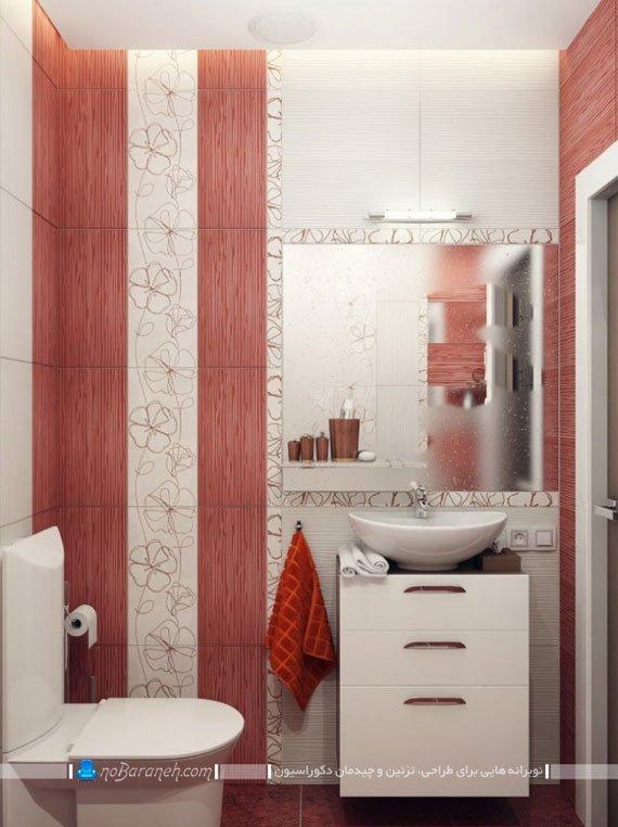 دکوراسیون دستشویی با کاشی های شیک و زیبا