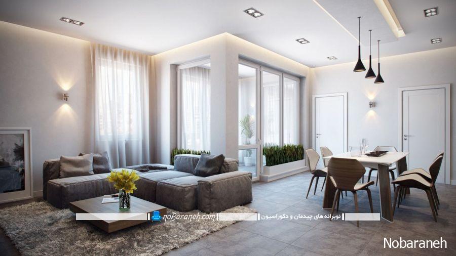 دیزاین و طراحی دکوراسیون شیک و مدرن در خانه دو خوابه