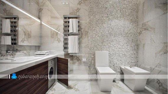 کاشی های دیواری با طراحی متنوع برای حمام، مدل های جدید تزیین و دیزاین حمام و دستشویی