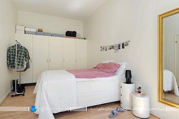 دیزاین ساده و ارزان اتاق خواب عروس / عکس