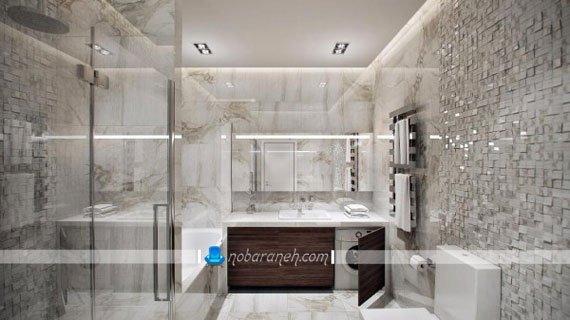 مدل کاشی های لوکس حمام و دستشویی