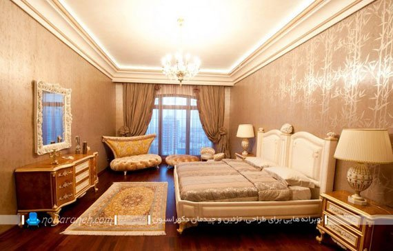 اتاق خواب مستر در واحدهای مسکونی برح روما رزیدنس