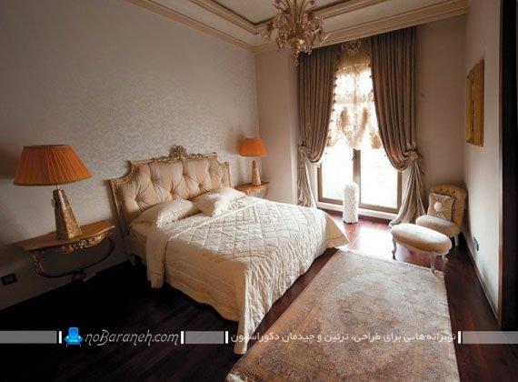 نمونه مدل طراحی دکوراسیون کلاسیک در اتاق خواب برج رما رزیدنس