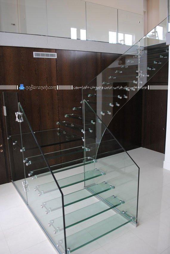 مدل پله دوبلکس شیشه ای مدرن و فانتزی با طراحی جدید و مدرن فانتزی. مدل های متنوع پله دوبلکس برای دیزاین داخلی ساختمان به روش های مدرن و فانتزی شیک.