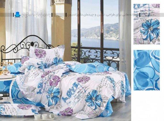 روتختی عروس با گلهای آبی