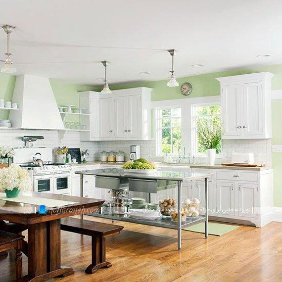 مدل اپن جزیره ای آشپزخانه