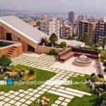 روف گاردن یا باغ بام در پشت بام ساختمانی در تهران