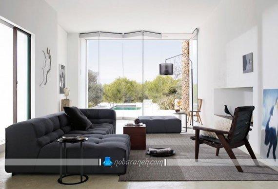 مبلمان لمسه کاری شده ایتالیایی شیک مدرن در مدل های جدید برای چیدمان اتاق پذیرایی و نشیمن.