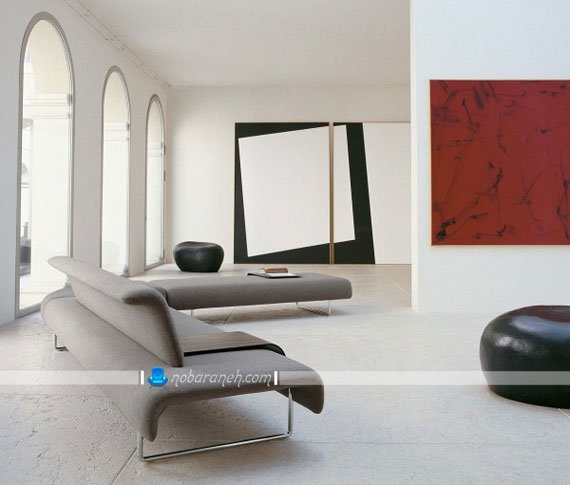 مبل فانتزی دو نفره ال با طراحی ایتالیایی شیک و مدرن. عکس مبلمان راحتی زیبا و مدرن شیک خوش دوخت خارجی.