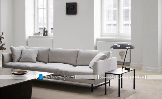 کاناپه سه نفره با پایه آهنی