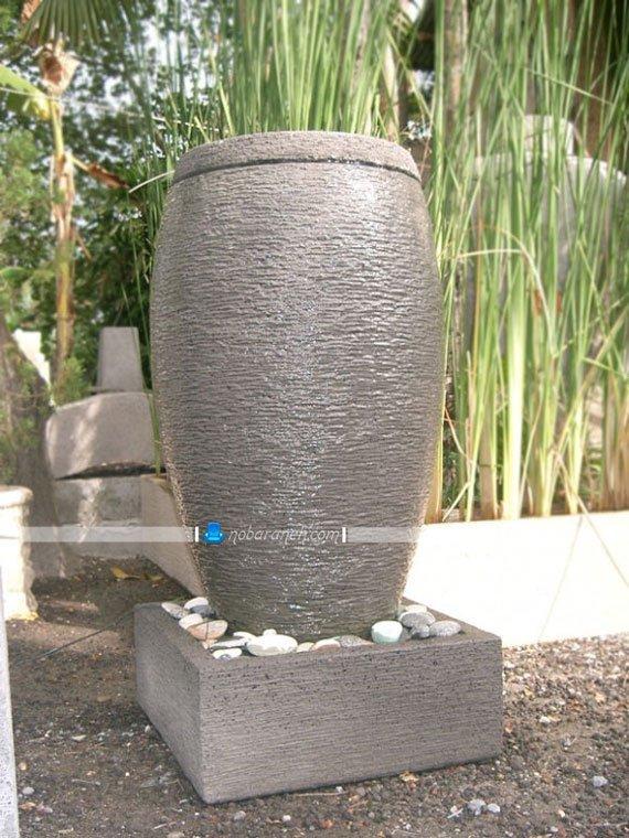 عکس و مدل آبنما سنگی با طرح و مدل ساده و خمره ای / عکس