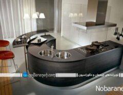 مدل کانتر و میز اپن آشپزخانه با جنس چوبی