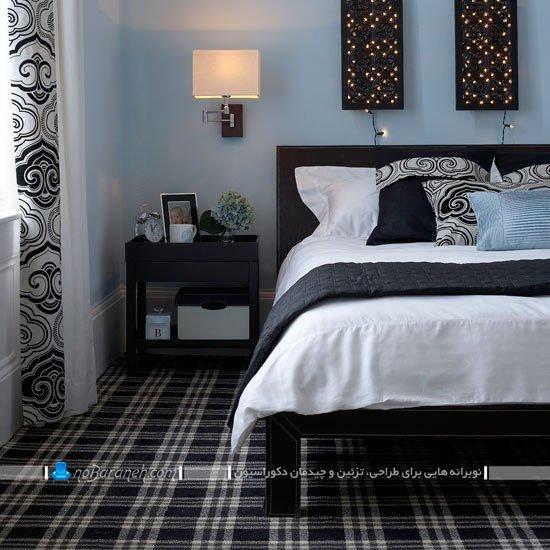 دیزاین شیک اتاق خواب با سیاه و سفید