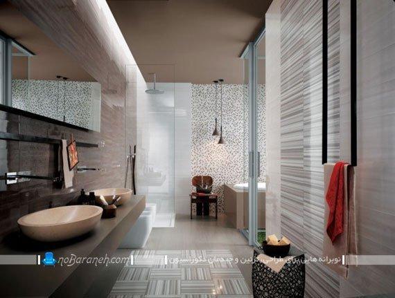 طرح کاشی حمام مدرن