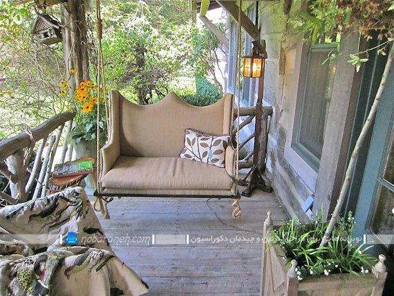 تاب دست ساز با مبل و کاناپه قدیمی. مدل های جدید تاب خانگی ارزان قیمت دو نفره به سبک لاوست.