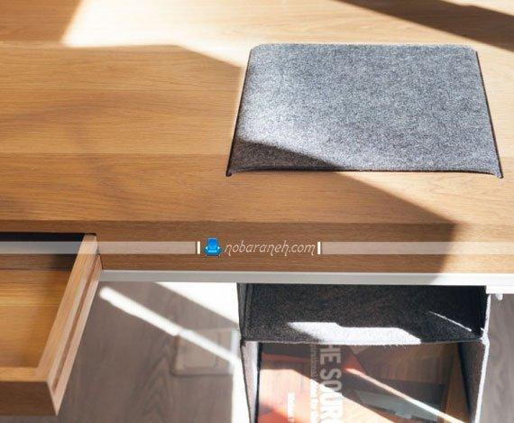 عکس و مدل میز تحریر چوبی با طراحی جدید و مدرن / عکس