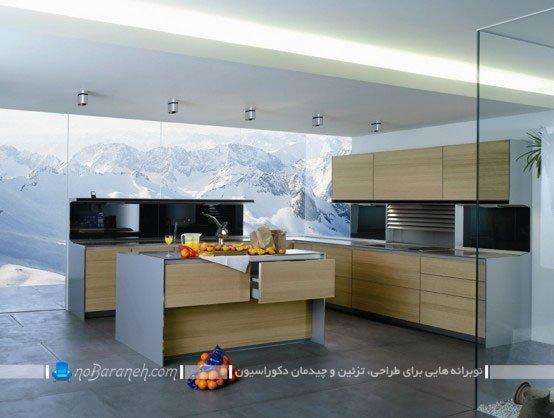 مدل کابینت آشپزخانه جزیره ای / عکس