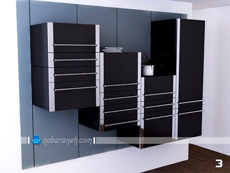 کابینت آشپزخانه با رنگ سیاه / عکس