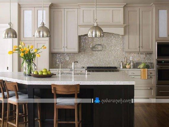 تزیین دیوارهای آشپزخانه با دیوارپوش های مدرن و سنگی، مدل های تزیین دیوار آشپزخانه اپن، کاشی ظریف دیواری