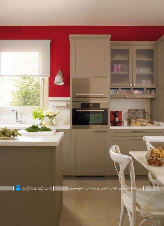 طراحی دکوراسیون آشپزخانه بسته و سنتی