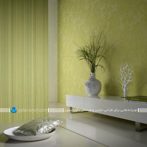 نصب کاغذ دیواری فانتزی و سبز رنگ