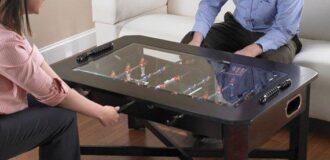 میز عسلی چوبی با قابلیت تبدیل به میز قوتبال دستی