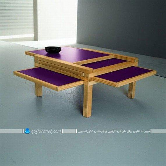 طرح جدید میز جلو مبلی چوبی