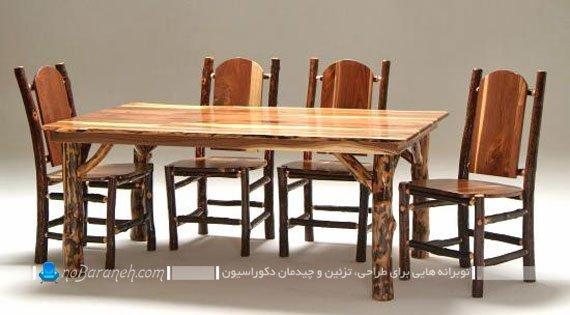 میز ناهارخوری تمام چوب چهار نفره / عکس
