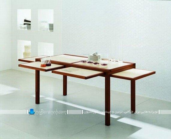 میز جلو مبلی جدید و کمجا قابل تبدیل به میز ناهارخوری