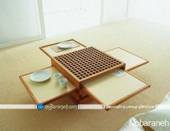 مدل میز نهارخوری و سرو غذا با طراحی کمجا