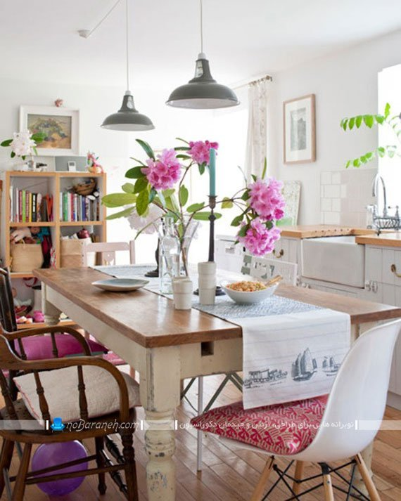 میز ناهارخوری چوبی و کلاسیک ساده / عکس