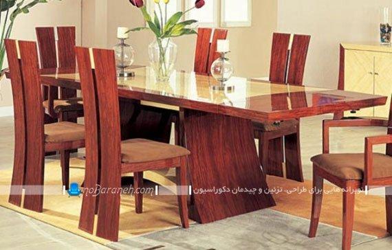میز نهار خوری چوبی فانتزی