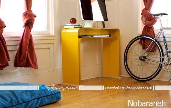 میز کامپیوتر و تحریر با طراحی کمجا و کوچک