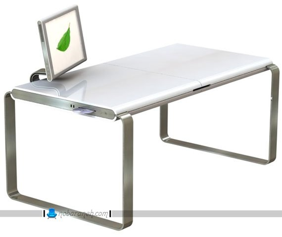 میز کامپیوتر با طرح اپل و مک / عکس