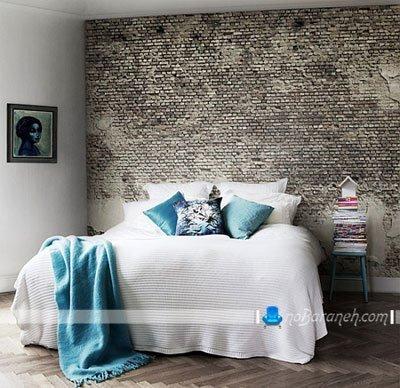 تزیین دیوار اتاق عروس با دیوارپوش آجری / عکس