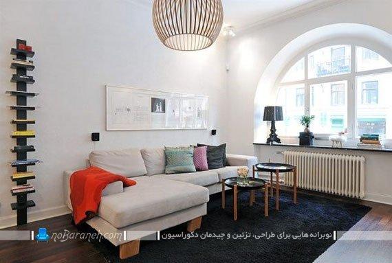 عکس و مدل چیدمان مبلمان راحتی کوچک در اتاق نشیمن کوچک / عکس