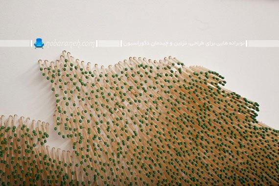 عکس و مدل تزیین دیوار خانه به شکل هنری