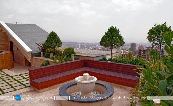اجرای روف گاردن در پشت بام خانه ایرانی