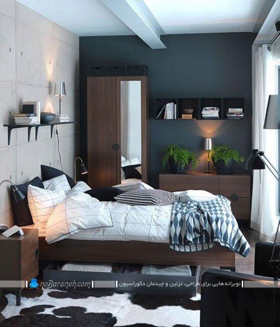 دیزاین مدرن و جذاب اتاق خواب کوچک
