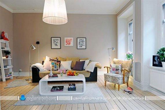 دیزاین شیک و ساده اتاق پذیرایی
